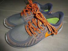 TOP! NIKE FREE 5.0 Gr 36,5 36  grau/orange  SNEAKER TURNSCHUH Halbschuh Sport
