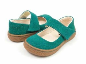 New LIVIE & LUCA Shoes  Carta Emeral Green Pebble Glitter 8