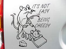 """""""il suo non facile essere di formaggio"""" Adesivi / Auto / Van / paraurti / Finestra / Decalcomania Notebook 5252lgbk"""