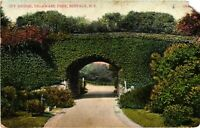 Vintage Postcard - 1909 Ivy Bridge Delaware Park Buffalo New York NY #3667