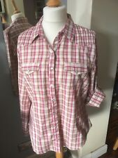 Dorothy Perkins Red & Beige Check Shirt UK 20
