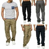 New Mens Lightweight Elasticated Cargo Trousers Combat Work Pants Bottoms M-XXL