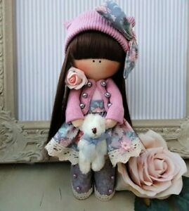 Rag doll handmade Cloth doll Tilda doll Rag Ooak doll KAYLEIGH 8 inch tall