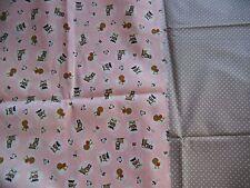 """coupons tissu  enfant  """" petites vaches,ânes,poules """"  + petits pois"""
