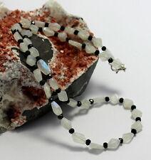 Arco Iris Piedra de la luna con espinela COLLAR,cadena