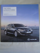 Lexus CT 200h range brochure Aug 2011