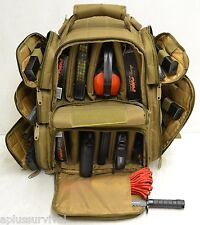 Coyote Brown Explorer Tactical Range Backpack Gun Pistol Survival Emergency Kit