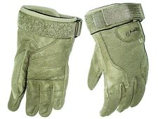 HEAVY DUTY SPECIAL OPS GLOVES cadets Army military ultra tough mens Small olive