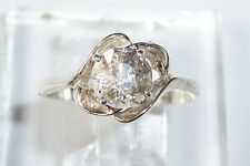Confetti Sunstone (Just one spot!) 6.5mm Facet USA Made Sterling Ring sz 7.5