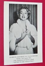 CPA CINEMA CARTE POSTALE MARILYN MONROE POSTCARD 02/08 1987 25th ANN. M's DEATH