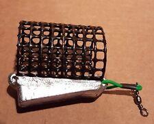 NEW 10off 5oz Handmade Ultimate Wedge Lead Metal Cage Feeders River Trent Barbel