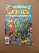 Iron Man Annual 3 . Man-Thing App . Marvel 1976 . FN / VF