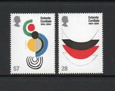 MINT 2004 GB CENTENARY OF ENTENTE CORDIALE STAMP SET OF 2 MUH