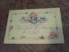 1947 My Calendar of Memory Franklin News Store Franklin, PA  ed6