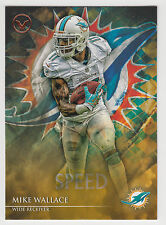 Mike Wallace 2014 Topps Valor Football Speed Parallel Card #55 Dolphins