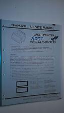 Sharp jx-9200 9210 service manual original repair book laser printer 106 pages