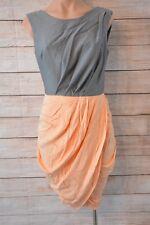 ASOS Dress Sz 10 Medium grey orange pencil shift tulip dress