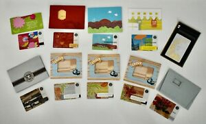 NEW NEVER USED ASSORTED STARBUCKS GIFT CARDS WITH HOLDERS