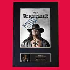 More details for the undertaker wwe quality autograph mounted photo repro print a4 481