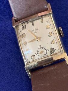 Vintage Men's Lord Elgin 21J cal 670 14K GF Case 4622 Running