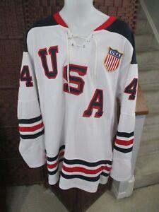Brooks Orpik Team USA REPLICA Hockey Jersey Size XXL Olympics