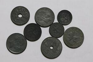 BELGIUM GERMAN OCCUPATION ZINC COINS B34 X19