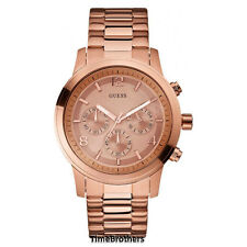 NEW GUESS WATCH for Men * Chronograph * Rose Gold Tone Stainless Steel U16003G1