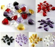 10 x PENDANT HEART FACETED CUT GLASS CRYSTAL BEADS 14mm  COLOUR CHOICE
