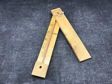 Ancien thermomètre Réaumur vers à soie déposé en bois / VINTAGE