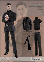 CC187 1/6 Male pin stripe Suit Costume Set Clothes F 12'' Action Figure Toy