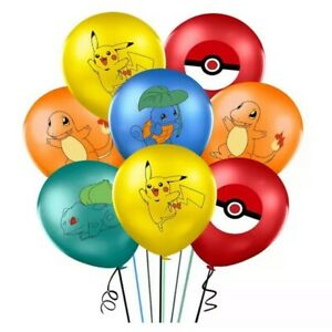 "10PC Pokemon Pikachu 12"" Latex Birthday Party Balloons Pokemon Decoration New"