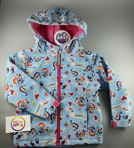 girls MY LITTLE PONY hooded shower rain nursery school coat jacket Rainbow