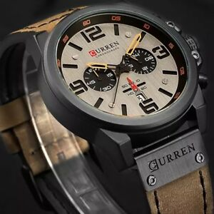 2018 New Men Watch CURREN Top Brand Luxury Mens Quartz Wristwatches Male Leather