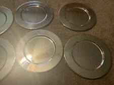 """Set of 6 Silver Plated Bread Butter Dish Small 12"""" Charger Plate Platter"""