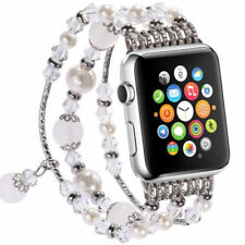 Bling Agate Beads Strap Bracelet Band For Apple Watch iWatch Series 4 44mm/40mm