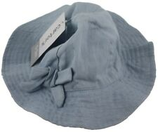 Carters Baby Girl Light Blue Denim Hat Chin Strap Size 0-3 Months  Accessories 935e7c4ee35b