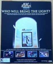 Kid Icarus Poster Ad Print with Card 3DS Nintendo