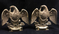 Vintage Baldwin Brass Eagle Bookends Forged in America Americana Colonial