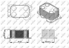 Oil Cooler, engine oil NRF 31338