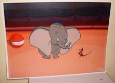 Animated Ltd Ed Serigraph Cel Disney Dumbo Sericel with Background