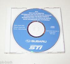 Handbuch auf CD Subaru Impreza WRX STI Konstruktion + Funktion - Modelljahr 2010