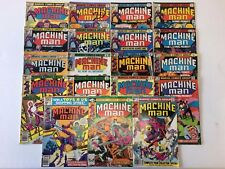 Machine Man #1-19 Complete Comic Book Set Marvel 1978