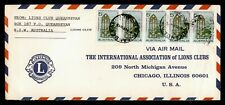 Dr Who Australia Lions Intl Queanbeyan Airmail To Usa C218435