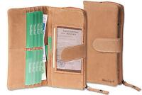 Woodland® besonders weiche Damen Geldbörse in Hellbraun aus feinem Leder