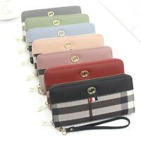 Women Leather Clutch Wallet Long Card Holder Case Purse Phone Bag Zipper Handbag