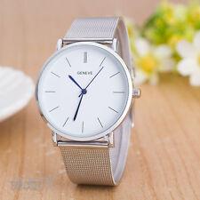 Fashion Women's Watch Stainless Steel Analog Quartz Wrist Watches Silver