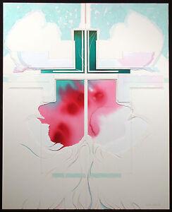 """Nanci Blair Closson """"Cross Series - Warming Up"""" Signed Original Mixed Media Art"""