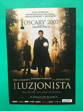 ►►Polish FLYER 2 The Illusionist Jessica Biel Edward Norton Rufus Sewell poster