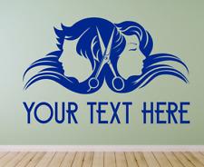 Hair & Beauty Custom Salon Barber Shop Wall Window decal sticker art, Any Size.