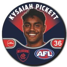 2020 AFL Melbourne Player Badge - PICKETT, Kysaiah